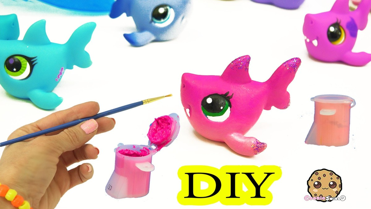 Custom Painting DIY Littlest Pet Shop Shark – LPS Do It YourSelf Cookieswirlc Craft Video
