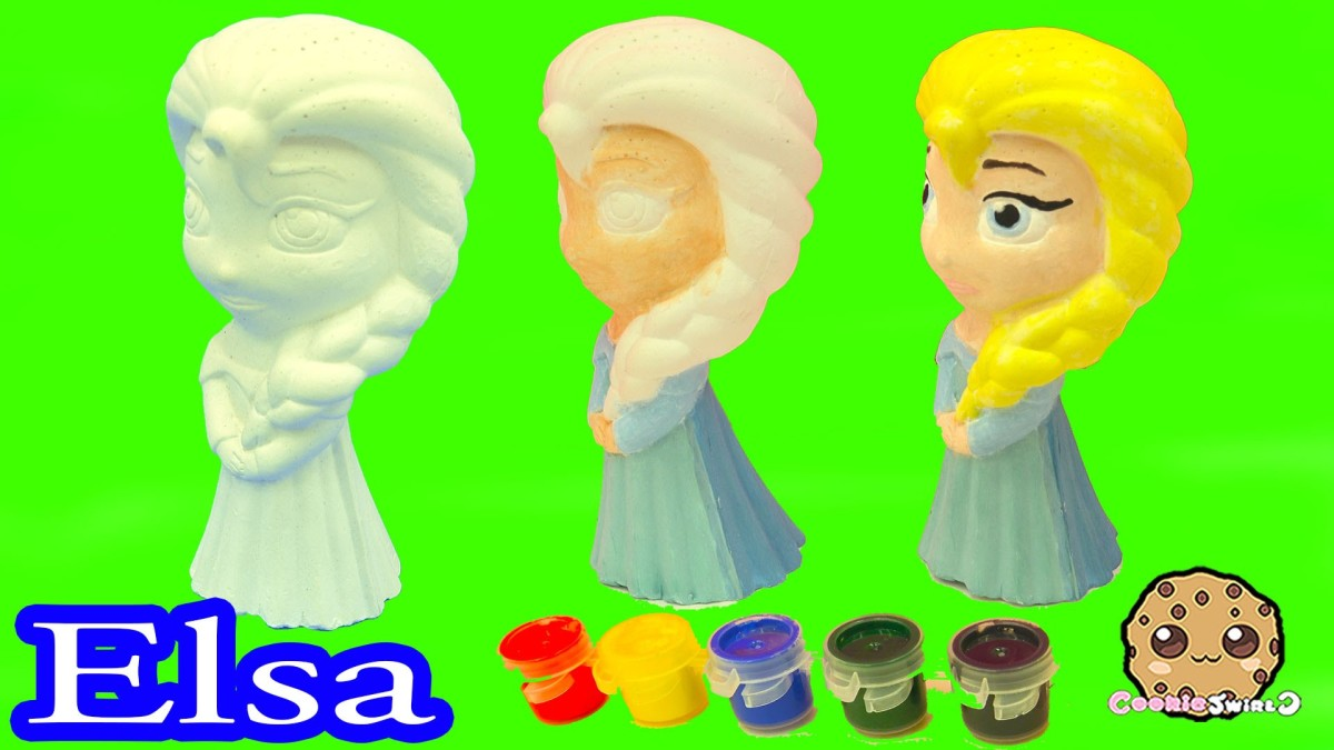Paint Your Own Disney Frozen Queen Elsa Painting Craft Kit Set – Cookie Swirl C Video