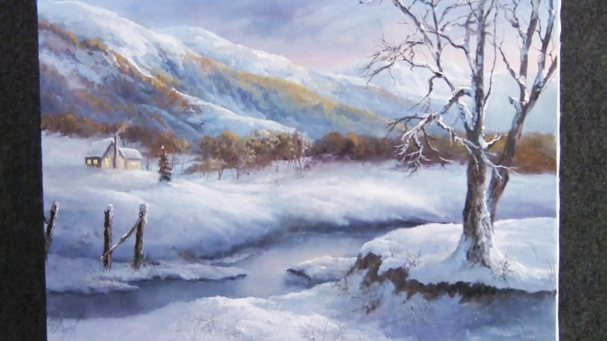 Christmas in the Mountains | Painting Demo