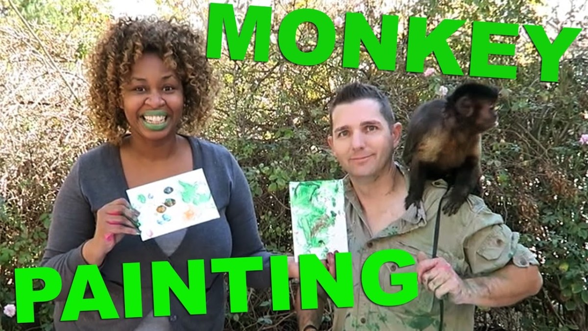 Monkey Painting – GloZell & Saving Wildlife International