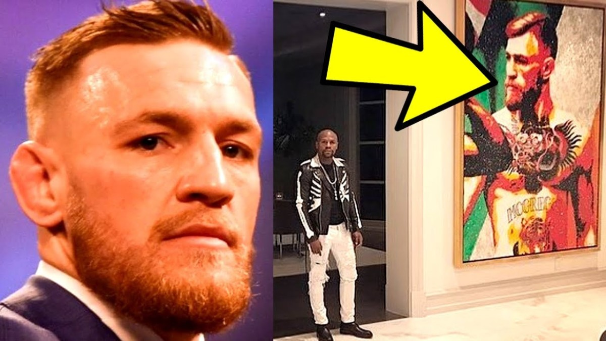 Floyd Mayweather unveils a Huge Conor McGregor Painting in his mansion,Bisping on Masvidal