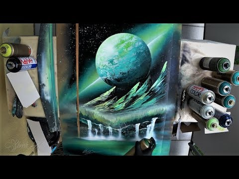 Green valley – SPRAY PAINT ART by Skech