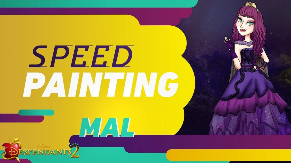 Mal Cotillion | Speed Painting | Disney Descendants