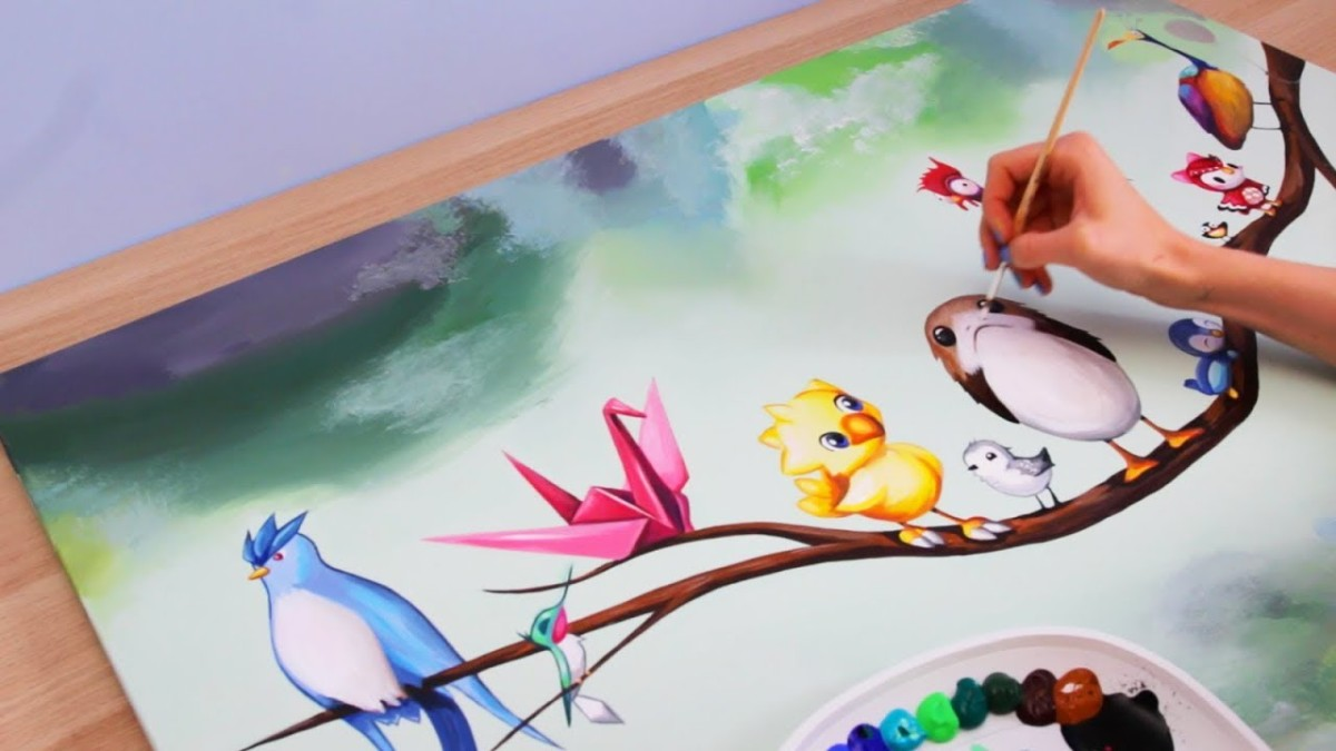 Painting Birds – Disney Pokemon Porg & MORE