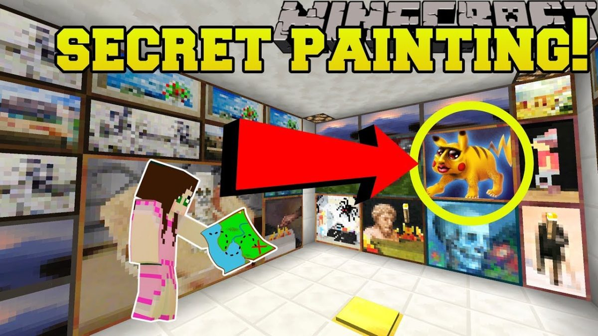 Minecraft: SECRET PAINTING!!! – The Puzzle Button – Custom Map