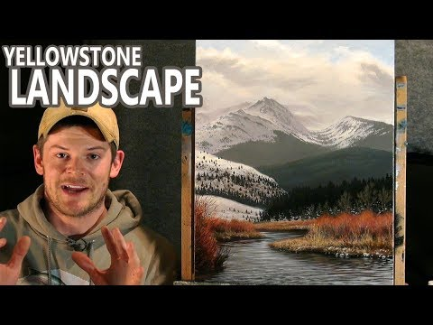 Painting an Amazing Yellowstone Landscape